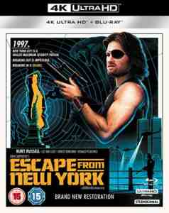 Escape From New York 4k Blu-ray