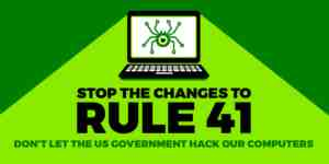 stop the changes to rule 41 logo